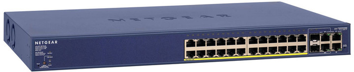 NETGEAR FS728TP ProSafe 24x 10/100 Smart Switch + 2x SFP/gigabit, PoE