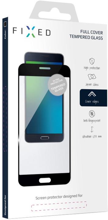FIXED Full-Cover ochranné tvrzené sklo pro Samsung Galaxy J7 (2017), přes celý displej, černé