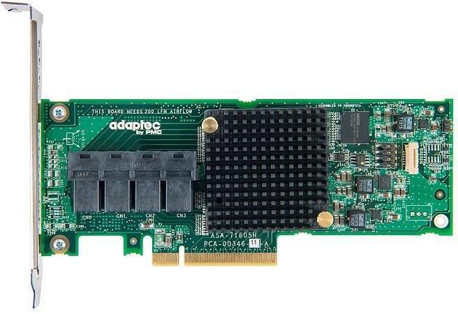 ADAPTEC HBA 71605H Single SAS/SATA 16 int. portů, x8 PCIe
