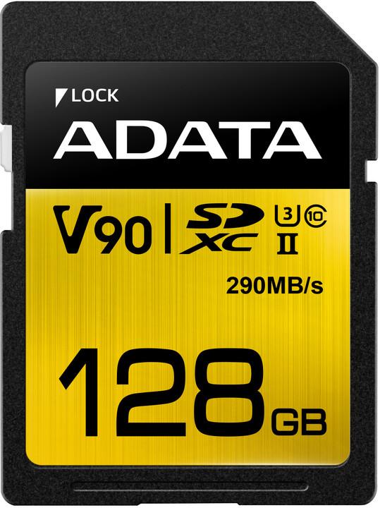 ADATA SDXC Premier One 128GB 290/260MB/s UHS-II U3