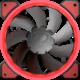 Cougar VORTEX LED, červená, 120mm