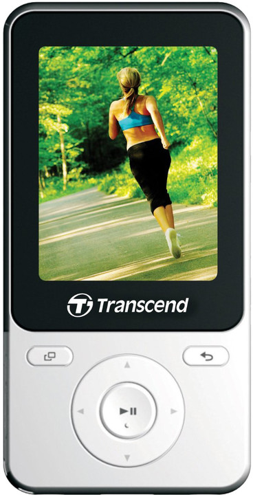 Transcend MP710, 8GB, bílá