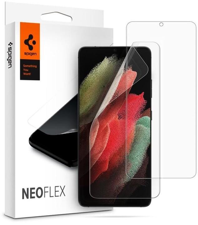 Spigen ochranná fólie Neo Flex pro Samsung Galaxy S21 Ultra, 2ks