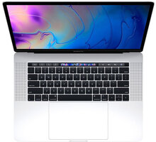 Apple MacBook Pro 15 Touch Bar, 2.6 GHz, 512 GB, Silver (2018) - MR972CZ/A
