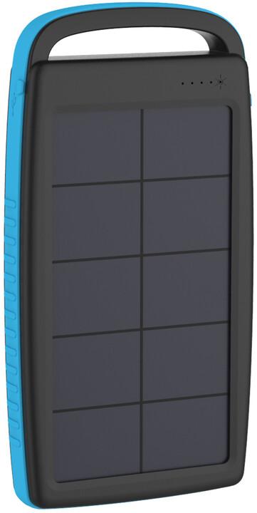 XLAYER powerbanka PLUS Solar, 20000mAh, černá/modrá