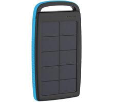XLAYER powerbanka PLUS Solar, 20000mAh, černá/modrá - 215775