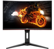 """AOC C24G1 - LED monitor 24"""" + Herní podložka pod myš C-TECH ANTHEA CYBER RED, gaming, 320x270x4mm, obšité okraje v hodnotě 349 Kč"""