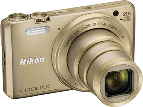 Nikon Coolpix S7000, zlatá + pouzdro