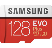 Samsung EVO Plus Micro SDXC 128 GB UHS-I U3 + adaptér - MB-MC128HA/EU