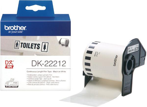 Brother - DK-22212 (bílá filmová role 62mm x 15,24m)