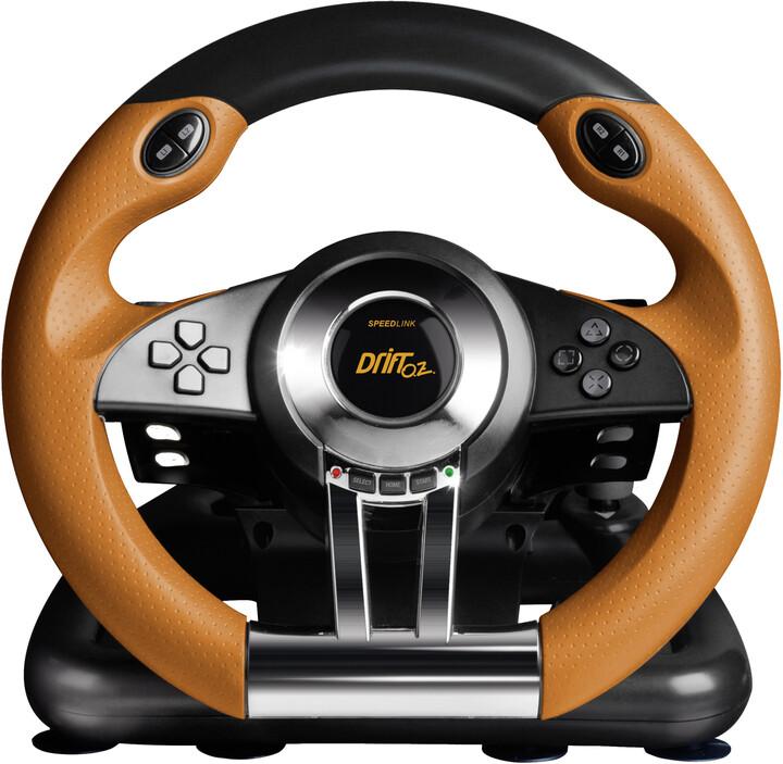 Speed Link Drift O.Z., černý/oranžový (PS3)