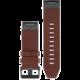 GARMIN náhradní kožený řemínek pro Fenix 5X a Fenix 3 QuickFit™ 26, hnědý