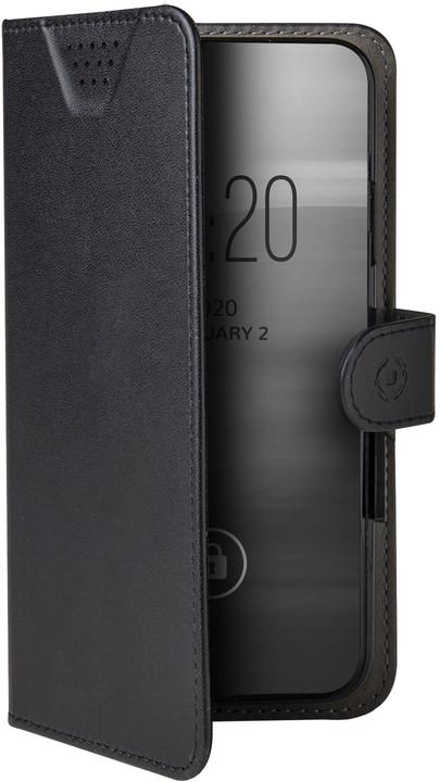 """CELLY Wally One univerzální flipové pouzdro velikost XXL pro 5.0""""-5.5"""" (7x14.8cm), černá"""