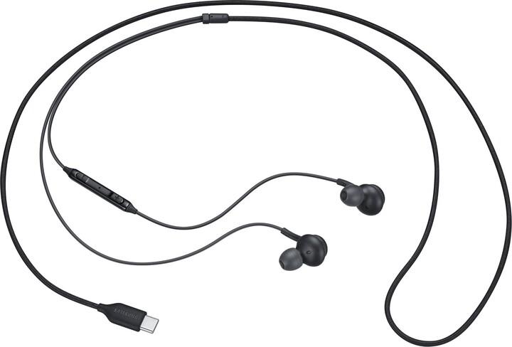 Samsung sluchátka s ovládáním hlasitosti EO-IC100BB, černá