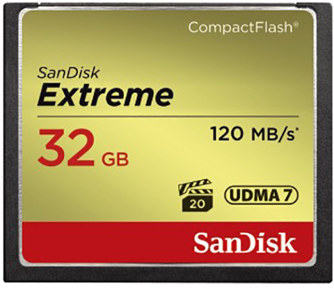 SanDisk CompactFlash Extreme 32GB 120 MB/s