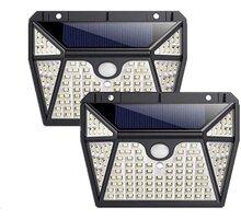 Viking venkovní světlo Z118, LED, solární, s pohybovým senzorem, černá