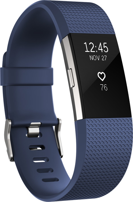 Fitbit Charge 2 Accessory TPU Band L, modrá