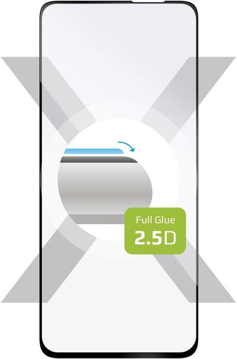 FIXED Ochranné tvrzené sklo Full-Cover pro Xiaomi POCO F3, s lepením přes celý displej, černá
