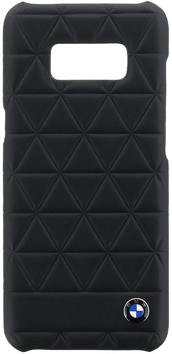 BMW Hexagon kožený zadní kryt pro Samsung G950 Galaxy S8, černý