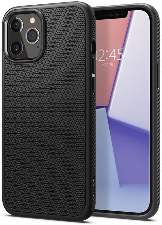 Spigen ochranný kryt Liquid Air pro iPhone 12 Pro Max, černá