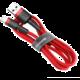 BASEUS kabel Cafule USB-A - Lightning, nabíjecí, datový, 3m, červená