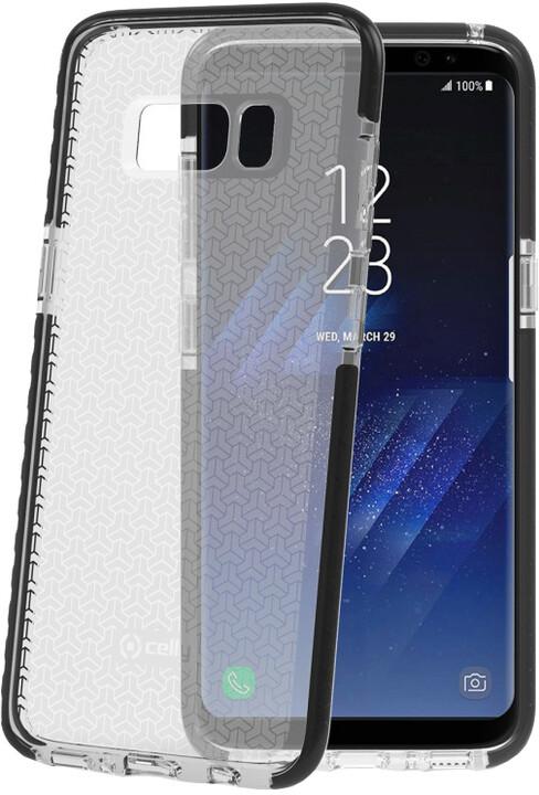 CELLY Hexagon Zadní kryt pro Samsung Galaxy S8, černý