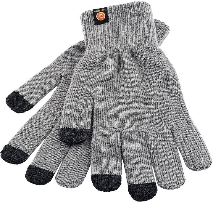 GoGEN Rukavice pro dotykové displeje, L, šedá