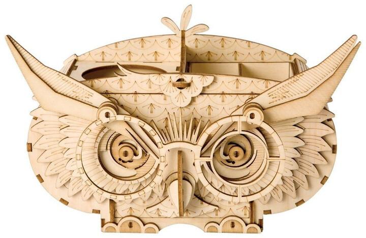 Stavebnice - Soví krabička (dřevěná)