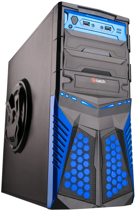 C-TECH HADES, černá/modrá