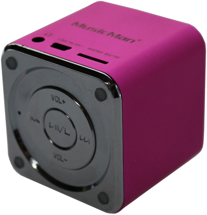 Technaxx Mini MusicMan, růžová