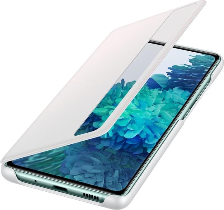 Samsung flipové pouzdro Clear View pro Galaxy S20 FE, bílá
