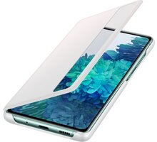 Samsung flipové pouzdro Clear View pro Galaxy S20 FE, bílá O2 TV Sport Pack na 3 měsíce (max. 1x na objednávku)