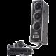 Forever autodobíječ adaptér 1-3 + USB TFO, černý