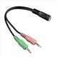 Hama redukce 2x jack 3,5mm - jack zásuvka 3,5mm 4pól., pro headsety