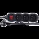 Emos prodlužovací kabel s vypínačem 3 zásuvky 1,5m, černá