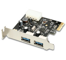 AXAGON PCEU-23R PCI-Express adapter 2x USB3.0 Renesas + LP