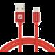SWISSTEN textilní datový kabel USB 3.1 C/M - USB 2.0 A/M, 3m, červený