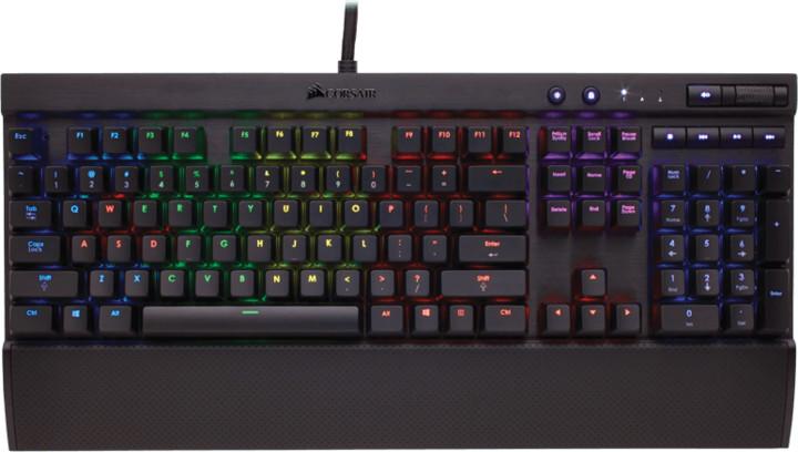 Corsair Gaming K70 RGB RAPIDFIRE LED + Cherry MX SPEED, CZ