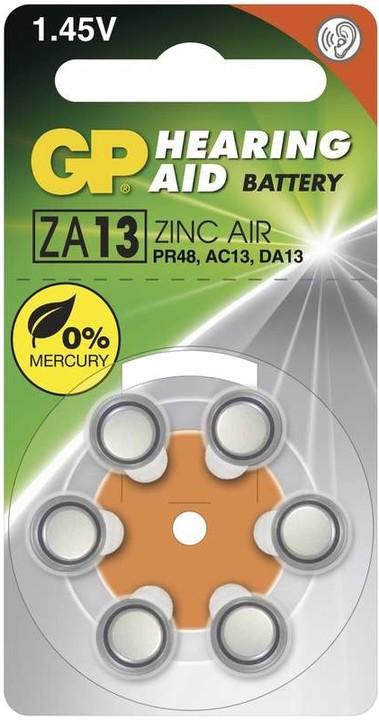 GP, ZA13, baterie do naslouchadel, 6ks