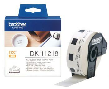 Brother DK11218 (papírové / kulaté, průměr 24 mm) - 1000 ks