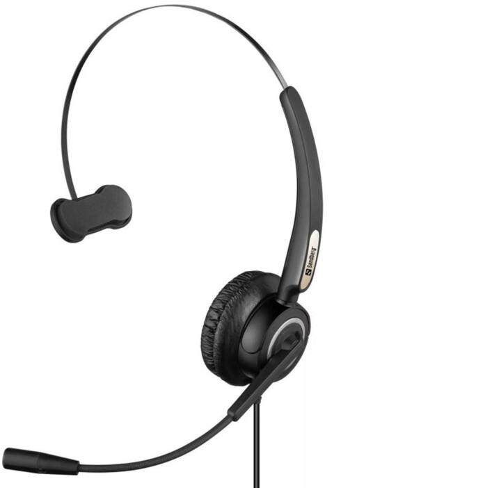 Sandberg USB Pro Mono Headset, černá