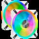 Corsair QL140 RGB LED, 2x140mm, Lighting Node CORE, bílý