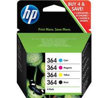 HP SD534EE, Pack CMYK, č. 364 – ušetřete až 20 % oproti standardní náplni