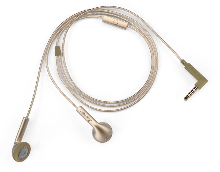 Sluchátka Happy Plugs Earbud, Champagne v ceně 650 Kč
