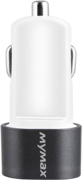 iMyMax Bullet Car Charger 2,1A, šedá
