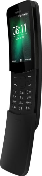 Nokia 8110 4G, Single Sim, černá