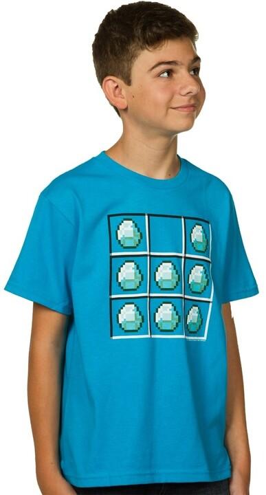 Tričko Minecraft Diamond Crafting, dětské (L)