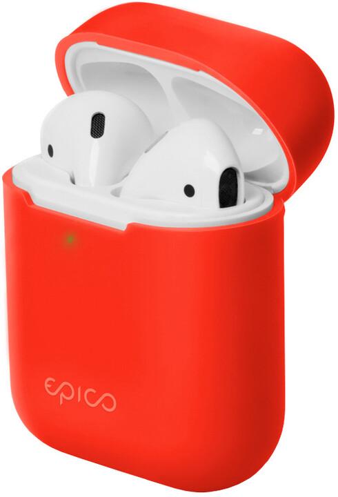 EPICO silikonový pouzdro pro Airpods Gen 2, červená