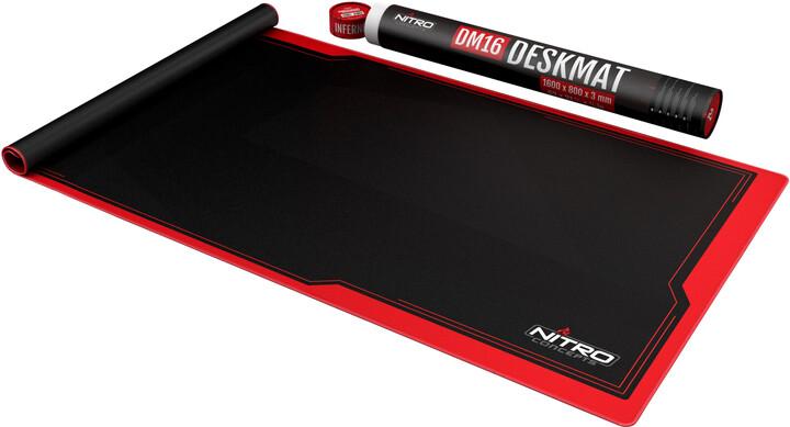 Podložka pod myš Nitro Concepts DM16, černá/červená