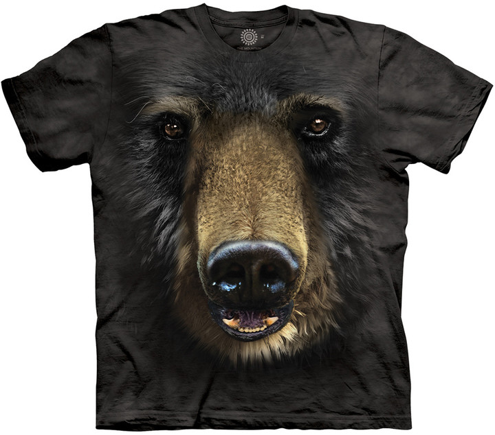 Tričko The Mountain Black Bear Face (US S / EU S-M)